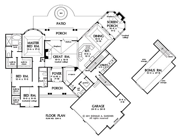 Basement Stair Option of The Champlain - House Plan Number ...