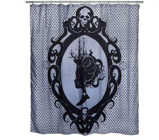 #TOO #FAST #OCTOPUS #CAMEO #SHOWER #CURTAIN #Sailor #Girl #Clipper #Ship #Victorian #Bath #TF #TooFast