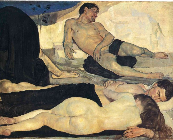 Night (detail); 1890; Ferdinand Hodler (1853 – 1918, Swiss); oil on canvas; 299 x 116 cm; Kunstmuseum Bern, Switzerland