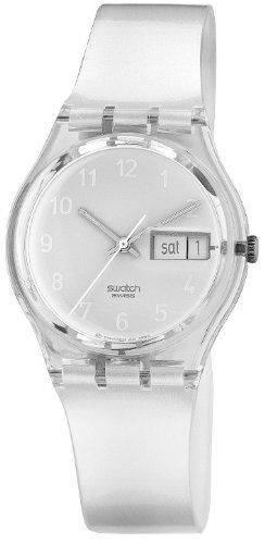 Swatch Women's GK733 Quartz White Dial Plastic Date  Watch $50.79