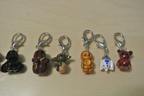Star Wars Stitch Markers - Darth Vader, Chewbacca, Yoda, C3PO, R2-D2, and a Ewok