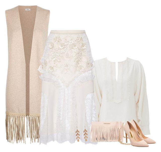 """""""Soft fringe (outfit only)"""" by blueeyed-dreamer ❤ liked on Polyvore featuring See by Chloé, Vince, Rodarte, Rebecca Minkoff, Rupert Sanderson and Irene Neuwirth"""