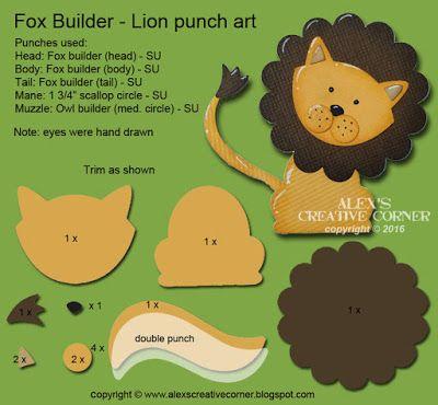 2016 Alex's Creative Corner: Foxy lion punch art Fox Builder Punch 141470 Price: $18.00