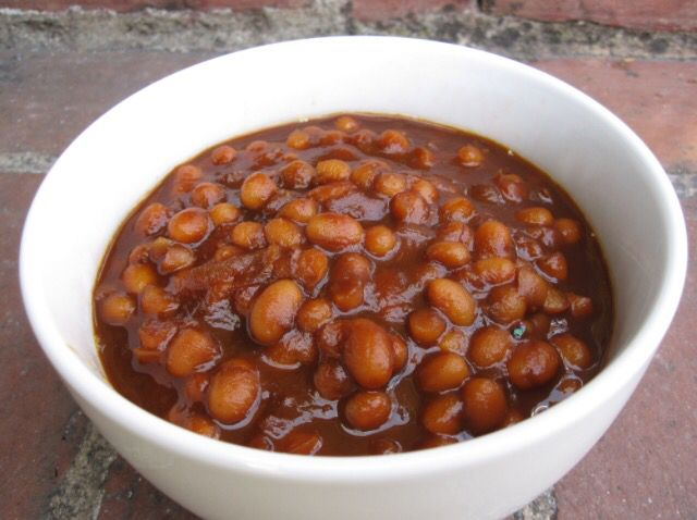 Smokey Crock Pot Baked Beans Any smoked meat...this can be left over...pork,rib meat, chicken, Bologna, brisket, little smokies, smoked sausage... It can even be s mixture of meat from above. Bottle of your favorite BBQ sauce... Medium size. 1 can black beans (rinsed) 1 can northern beans (rinsed) 2 cans chili beans (do not rinse) 2 cans pork and beans (do not rinse) If your feeding more add more of your favorite type bean... Don't like one kind... use a different one..mix it for your f...