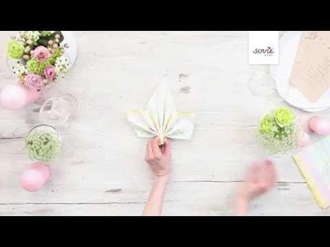 "Servietten falten ""Ahornblatt"" - Sovie HOME - YouTube"