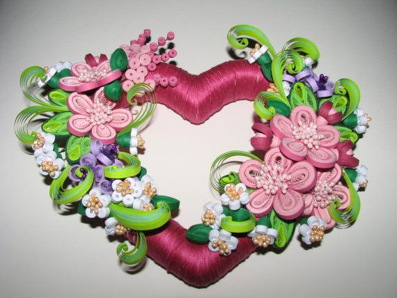 Quilling heart 100 % handmade by QuillingLife on Etsy