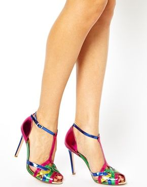 Image 3 of Dune Havian Multi Colour Heeled Sandals