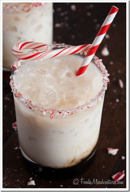 Peppermint White Russian, I prefer to just add Torani's Peppermint Syrup Instead of Shnapps.