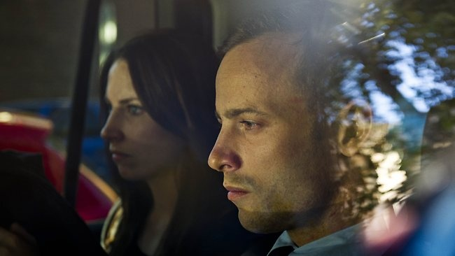 Man Superman Gunman |  Oscar Pistorius, right, and his sister Aimee, leave the courthouse after he was granted bail. Pistorius allegedly shot and killed Reeva at his Pretoria home on Valentine's Day 2013.