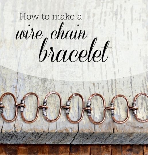 How to Make a Wire Link Chain Bracelet | Sweet Bead Studio | Bloglovin'
