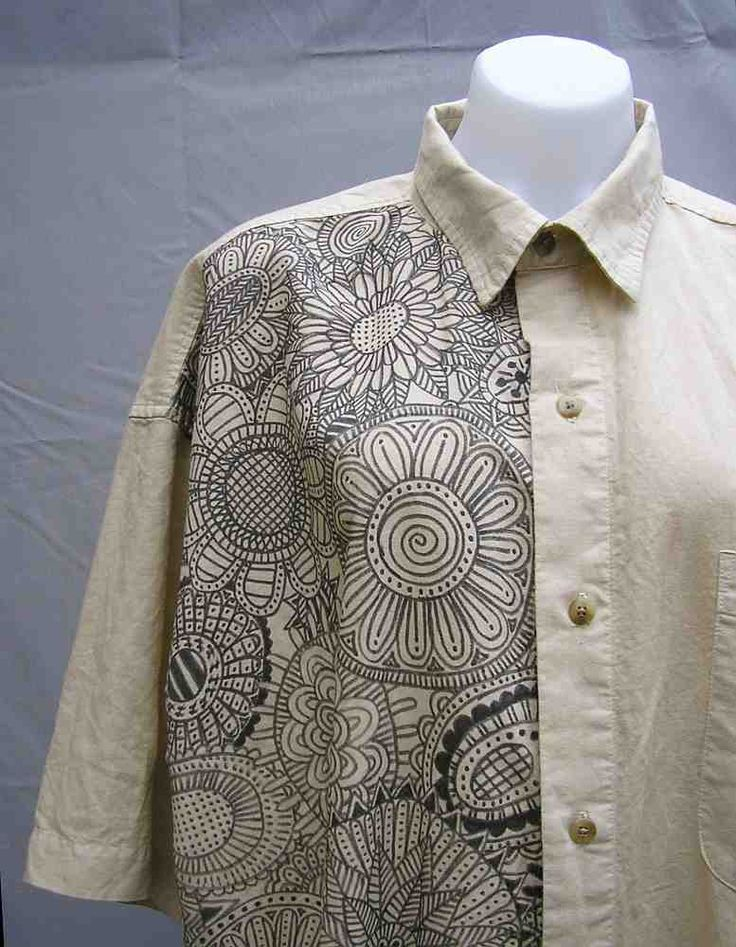 Tan plus size shirt, beige plus size shirt, tan plus size blouse, XL, hand painted, art to wear, wearable art, upcycled, OOAK, one of a kind by Rethreading on Etsy