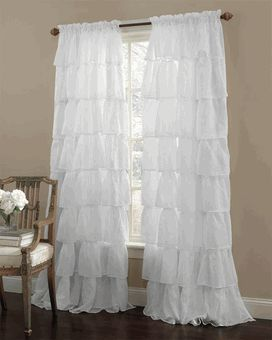 Gypsy Ruffled Curtain Panel   Great Price For A Ruffle Curtain And Cheaper  Than I Can