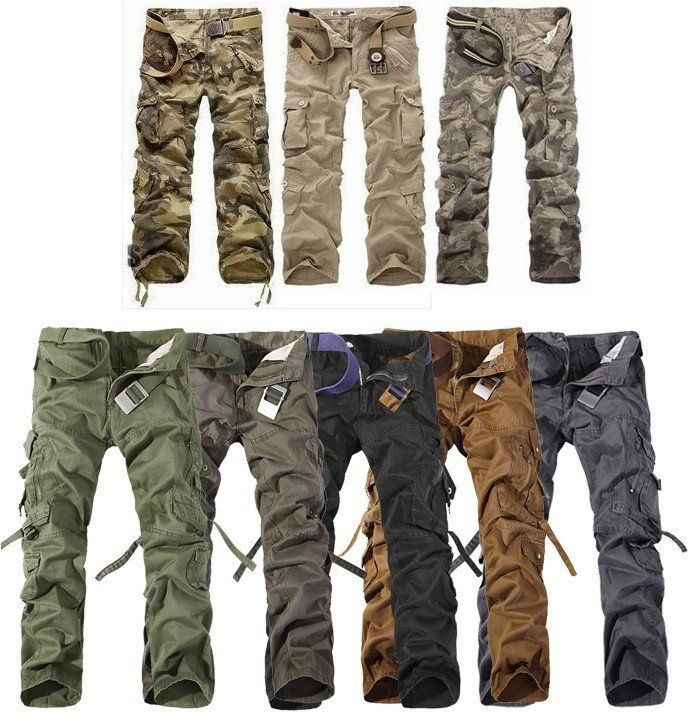 Discount Cargo Pants Men Casual Camping Outdoor Hikeing Camouflage Military