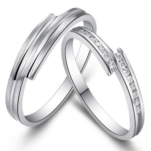 Name Unique Wedding Rings for Men and Women Set of Two