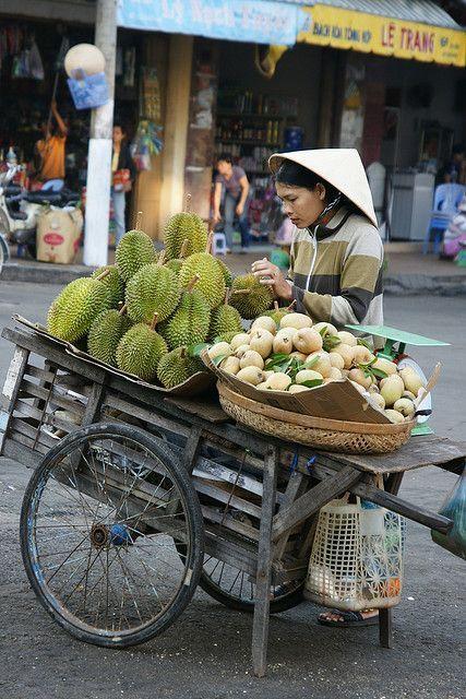 Fruit Stand in Vietnam #streetfood