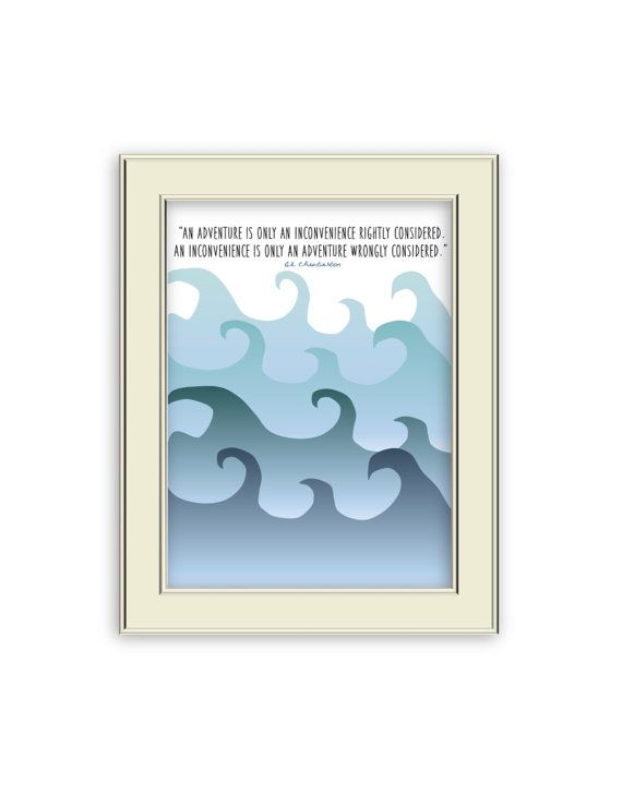 G.K. Chesterton Quote about Adventure Printable Ocean by Coleandco