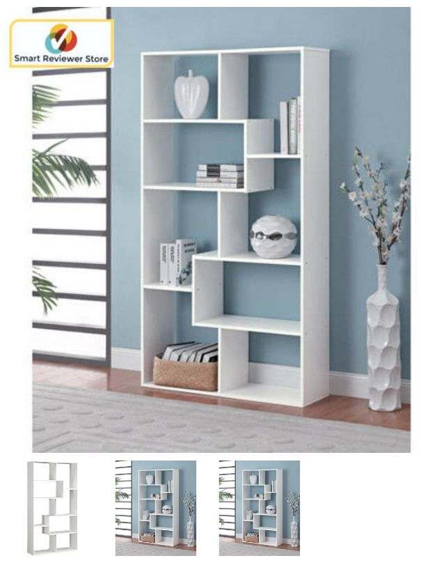 8 Shelf Tall Bookcase Cubby Large Open Bookshelf Modern Cube Display Brown Book Mainstays Traditional White Bookcase Cube Bookcase Open Bookshelves