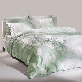 TAC Grisel verde - lenjerie de pat de lux din bumbac si tencel 2 persoane - material 100% natural bumbac si tencel - tencel-ul este mai bun absorbant decat bumbacul, si mai moale la atingere decat matasea - ecofriendly http://www.asternuturisiprosoape.ro/tac-grisel-verde-lenjerie-de-pat-de-lux-din-bumbac-si-tencel-2-persoane.html  #lenjeriidepat #lenjeriitac #tac
