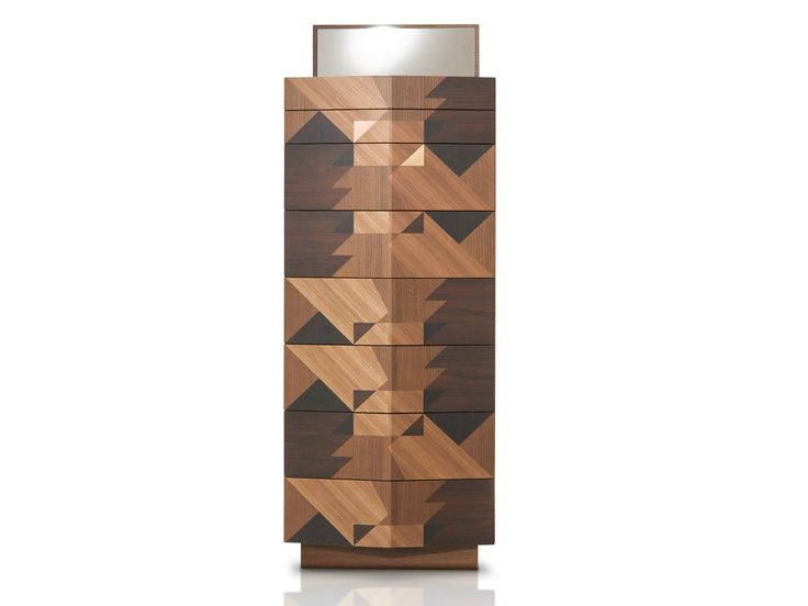 Free standing wooden chest of drawers MAGGIO by Porro design Alessandro Mendini