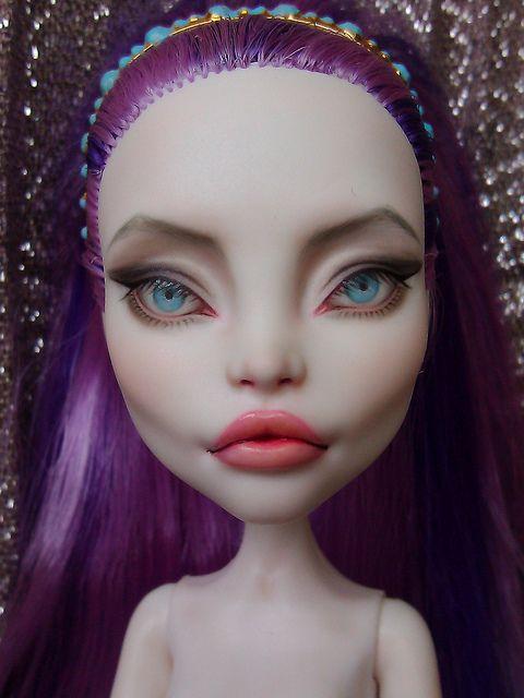 monster high ooak spectra. She looks like Angelina Jolie