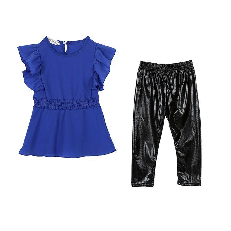 $4.73 (Buy here: https://alitems.com/g/1e8d114494ebda23ff8b16525dc3e8/?i=5&ulp=https%3A%2F%2Fwww.aliexpress.com%2Fitem%2FFashion-Kid-Girls-Clothes-Suit-Blue-Shirt-Dress-Black-Leggings-Children-Clothing-Set%2F32668644036.html ) Fashion Kid Girls Clothes Suit Blue Shirt Dress+Black Leggings Children Clothing Set for just $4.73