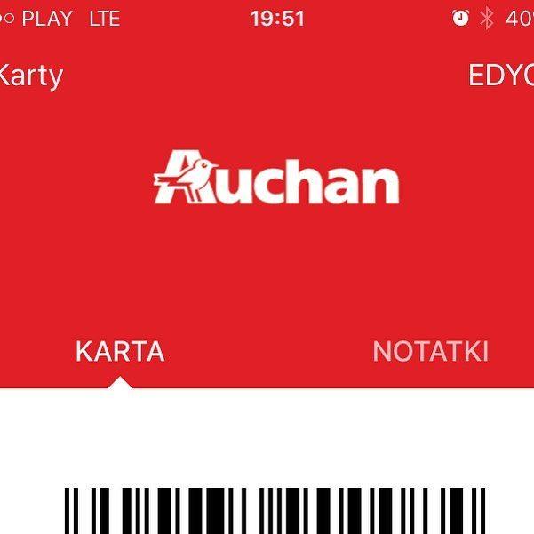 #auchan jesteście bardzo nie postępowi i odstraszacie klientów nie honorując waszej karty #skarbonka zeskanowanej w aplikacji #stocard