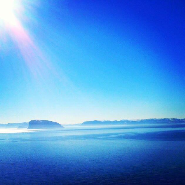 Norwegian ocean, blue sky, magic