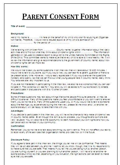 Best 25+ Parental consent ideas on Pinterest Teaching agency - parent consent forms