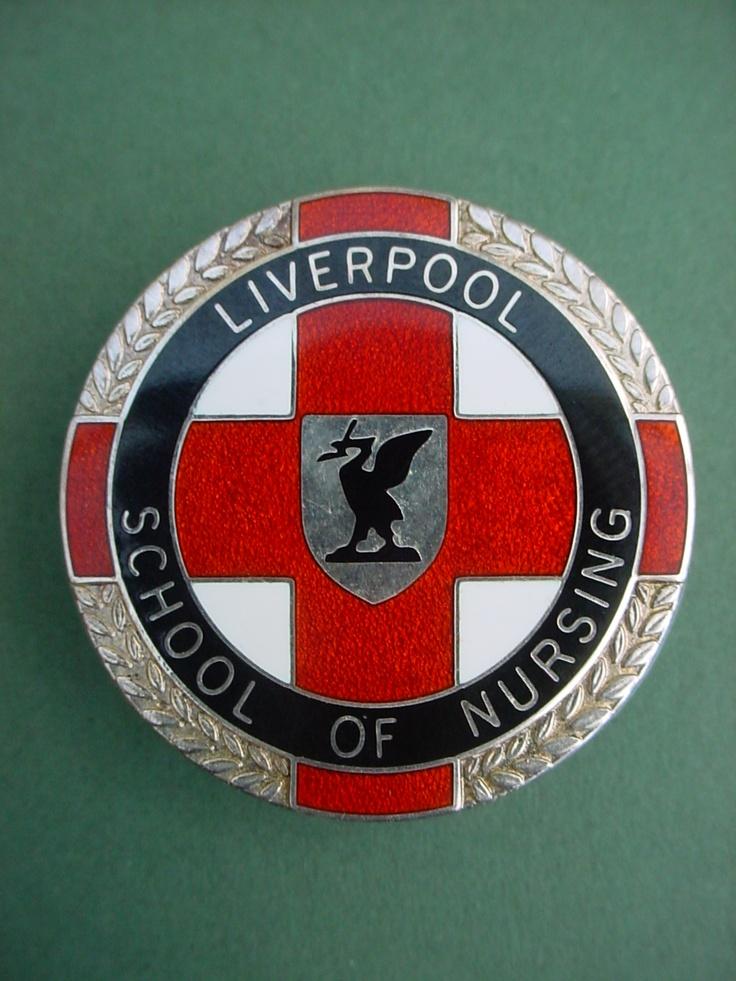 Nurses badge Liverpool School of Nursing made by Thomas Fatorini. I still have mine.