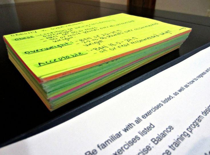 study notecards for NASM CPT NASM EXAM!!! Pinterest