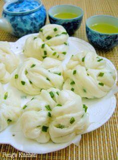 scallion mantou (steamed bun) | Taiwanese Cuisine