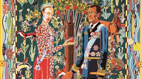 Bjørn Nørgaard's tapestries commissioned for The Queen's 50th Birthday
