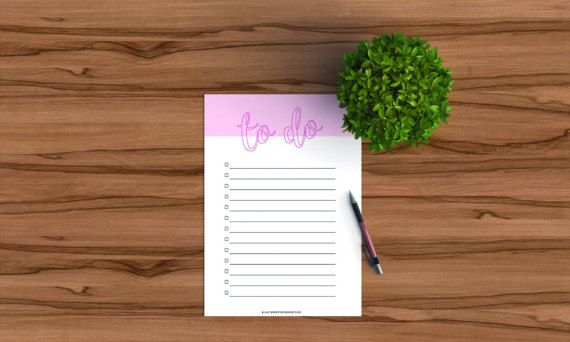 Printable to do list for your planner in pink by FindingNorth