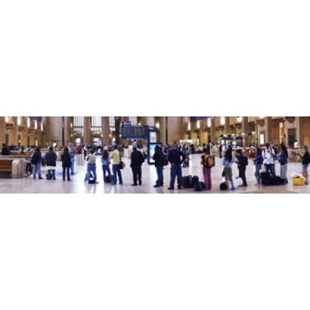 People waiting in a railroad station 30th Street Station Schuylkill River Philadelphia Pennsylvania USA Canvas Art - Panoramic Images (20 x 5)