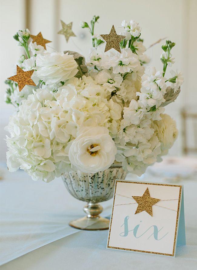 25 best ideas about star centerpieces on pinterest for Baby shower flower decoration ideas