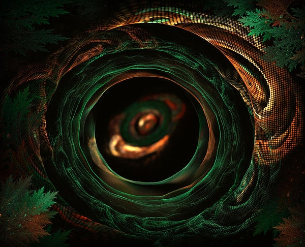 Sleeping snake fractal art