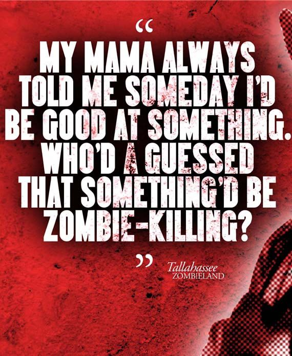 Tallahassee ZOMBIELAND Movie Quote Poster by ManCaveSportsSigns