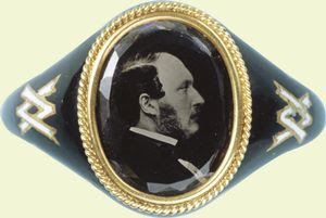 Queen Victoria's mourning ring, as if she needed one. Her whole visage was one of abject sadness for the rest of her life.