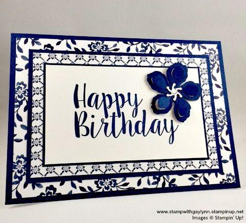 Stampin' Up! Big On Birthdays Photopolymer Stamp Set : Stamp with Gay Lynn