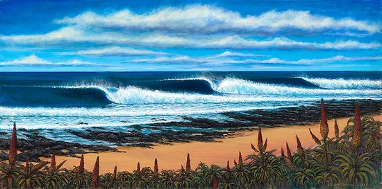 Jeffrey's Bay, South Africa by Clark Takashima    You can see this painting at STN headquarters!