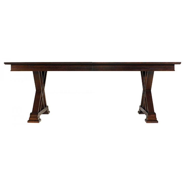 Jackson Rectangular Table With Metal Base: Stanley Continuum Double Pedestal Table 816-11-39