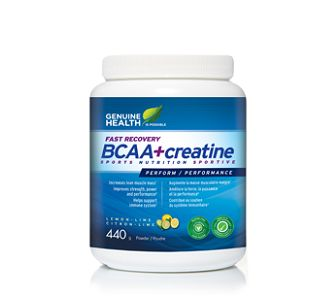 Genuine Health BCAA+Creatine : the most complete Performance formula on the market that works to fuel your anaerobic system, meaning each rep or sprint is as strong as the first. Plus a monster 10g of BCAAs keeps the tank topped up improving muscle synthesis, decreasing lactate levels, and stabilizing blood sugar right through to the end.