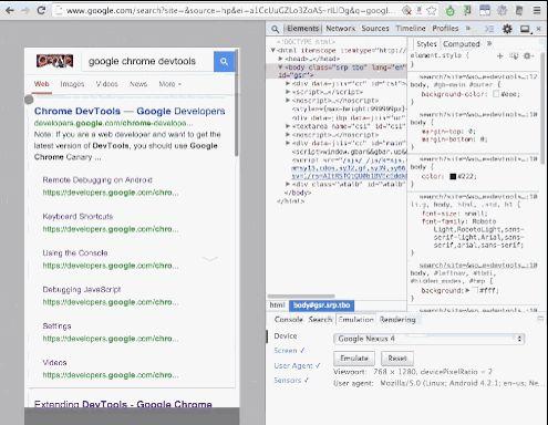 Chrome DevTools for Mobile: Screencast and Emulation