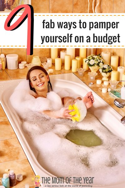 """Desperate for a break, but money is tight? No worries! WE GET IT! Here are 9 fab ways to pamper yourself while on a budget. Trust us, you'll be saying """"Ahhh..."""" before you know it! Especially with the last two self-care ideas!"""