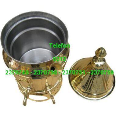 Bakır Sahlep Kazanı Satışı 0212 2370750 - Elektrikle çalışan sahlep semaveri ve gazla çalışan sahlep ocağının iç görünüşü; karıştırmalı sahlep makinelerinin satışı 0212 2370749
