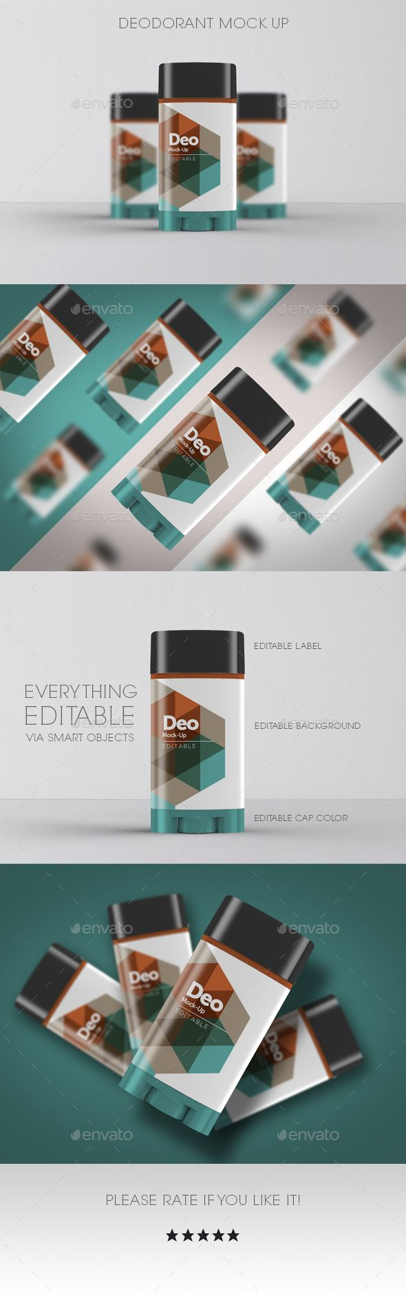Deodorant Mock Up - Beauty Packaging