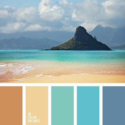 Harmonie bleu île paradisaique I Design I Couleur I Inspiration I Camaïeu I Peinture I