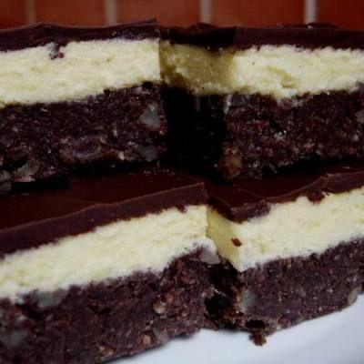 Sütés nélküli fehér-fekete süti