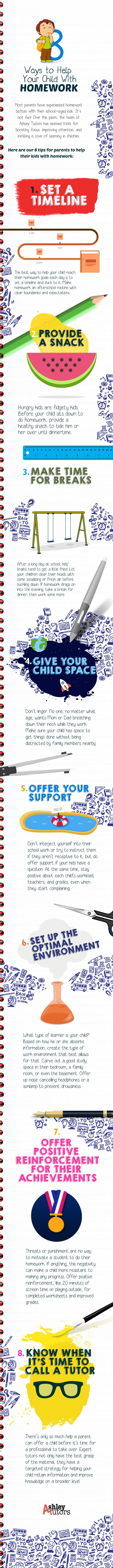 8 Ways to Help Your Child With Homework - Infographic