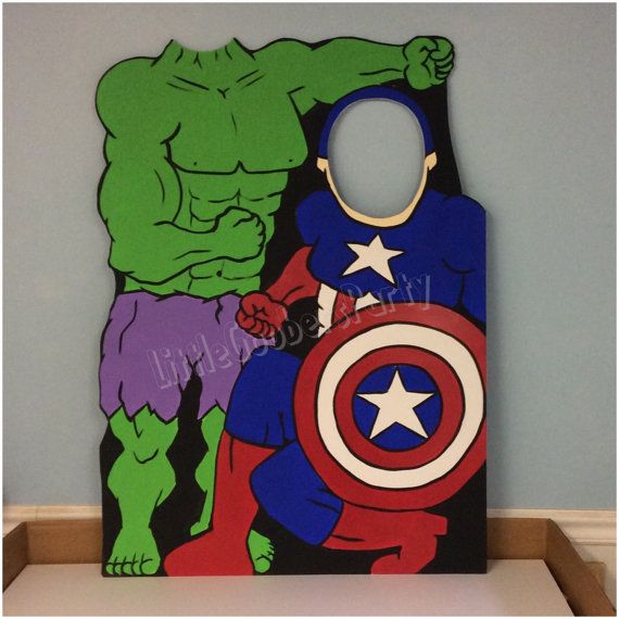 Custom Superhero Duo Photo Prop . Double by LittleGoobersParty